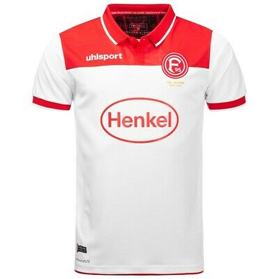 Uhlsport Fortuna Düsseldorf football maillot blanc f95 Home Fan Jersey Taille S-XXL