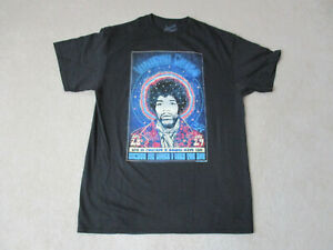 NEW-Jimi-Hendrix-Voodoo-Child-Concert-Shirt-Adult-Large-Black-Blue-Rock-Band-Men