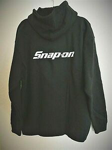 SNAP-ON-Logo-Mens-XL-Full-Zip-Hoodie-Hood-Graphic-Sweatshirt-Black-NWOT-GIFT