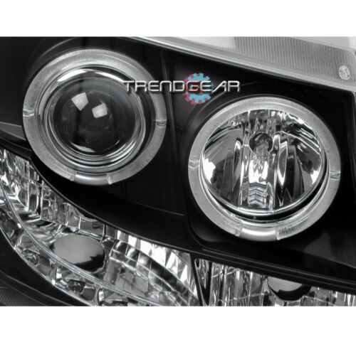2007-2013 CHEVY AVALANCHE//SUBURBAN//TAHOE DRL LED HALO PROJECTOR HEADLIGHTS BLACK