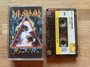 DEF LEPPARD Hysteria Cassette Tape - Rare TURKISH Sticker Tape KTB