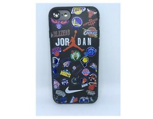Coque Silicone souple pour Iphone 6 ou iphone 6s Sport Clubs de Basketball Noir