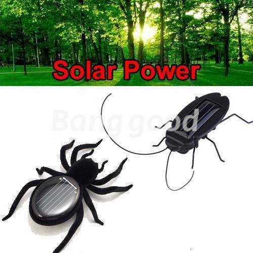 7.6cm Solarbetriebene Spinne Käfer 2015 Spielzeug Im Garten /& Insekten Alive