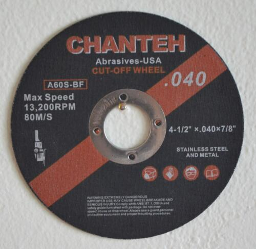 """25pcs 4-1//2/""""x.040/""""x7//8/"""" Cut-off Wheel for Stainless Steel /& Metal Blade Discs T1"""