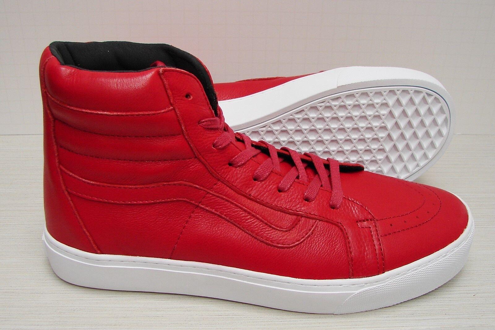 Vans SK8 Hi Cup Leather Red VN0A2Z5X1ED Men's Size Size Size 11.5 83ec17