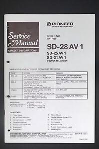 Pioneer Sd-28av1/25av1/21av1 Original Service-manual/anleitung/schaltplan Tv, Video & Audio O11 Elegant Im Geruch