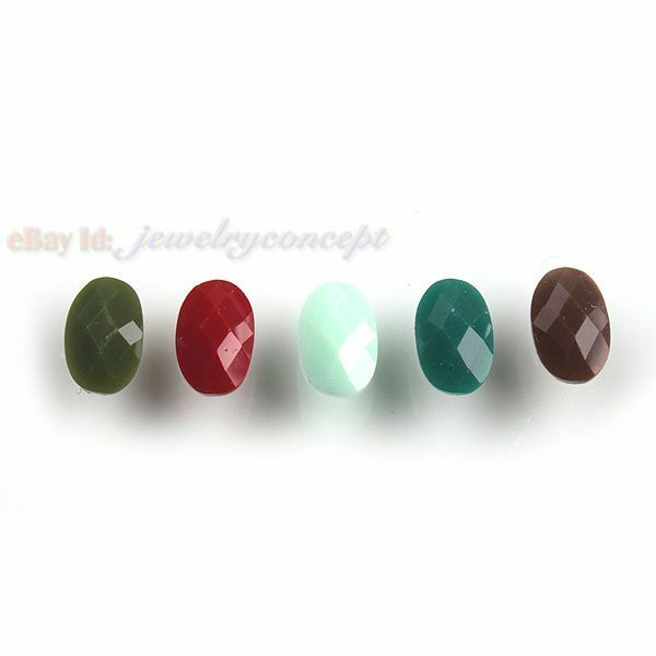 800pcs 24494 Wholesale Assorted Oval Faceted Stick-on Flatback 4x6mm Free P&P