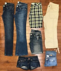 bfbce14fe373d Aeropostale Lot of 7- 4 Shorts 2 Jeans 1 Capri Denim Cotton Stretch ...