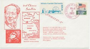 CHINA-USA-1971-2nd-CHINESE-SATELLITE-red-postmark-CA-VANDENBERG-AIR-FORCE-USPO