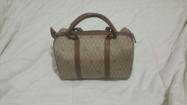 Christian Dior Vintage Coated Canvas Honeycomb Logo Doctor Speedy Boston Bag