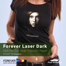Forever Laser Dark No Cut A Amp B Heat Transfer Paper 11 X 17 10 Sheets