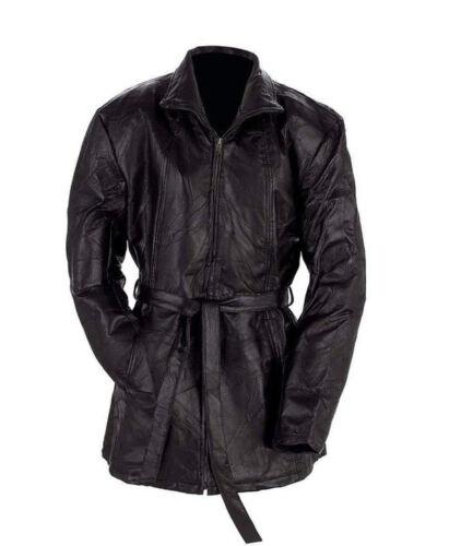 Giovanni Navarre Italian Stone Design Ladies Leather Jacket Zip Belt Lined Hip
