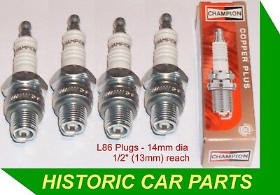 4 SPARK PLUGS for MG TD /& MkII 1945-50 Short reach replace CHAMPION L86