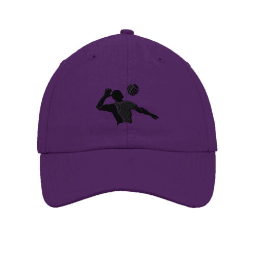 Volleyball Player Embroidered SOFT Unstructured Adjustable Hat Cap