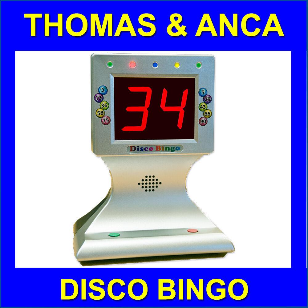 Bingo Bingo Electrónico Máquina de música disco y luces 1-90 & 1-75