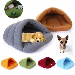 New Pet Cat Dog Nest Bed Puppy Soft Warm Cave House Winter Sleeping Bag Mat Pad