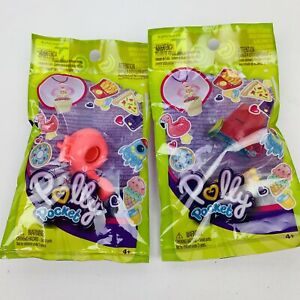 Polly-Pocket-039-s-Tiny-Takeaway-Rings-Lot-of-2-Different-Rings