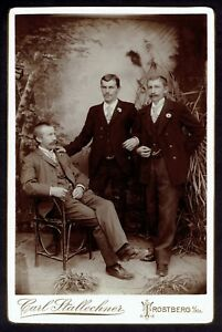 Cabinet-Photo-Three-men-gay-int-Rare-2828