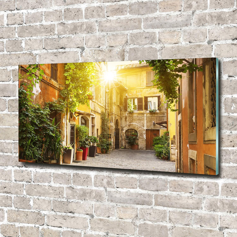 Glas-Bild Wandbilder Glas-Druck 140x70 Sehenswürdigkeiten Italienische Gassen