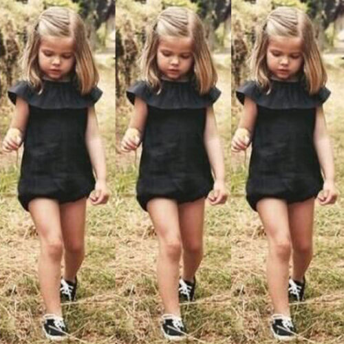 Casual Toddler Baby Girls Kids One-piece Outfit Bodysuit Romper Sunsuit Clothes