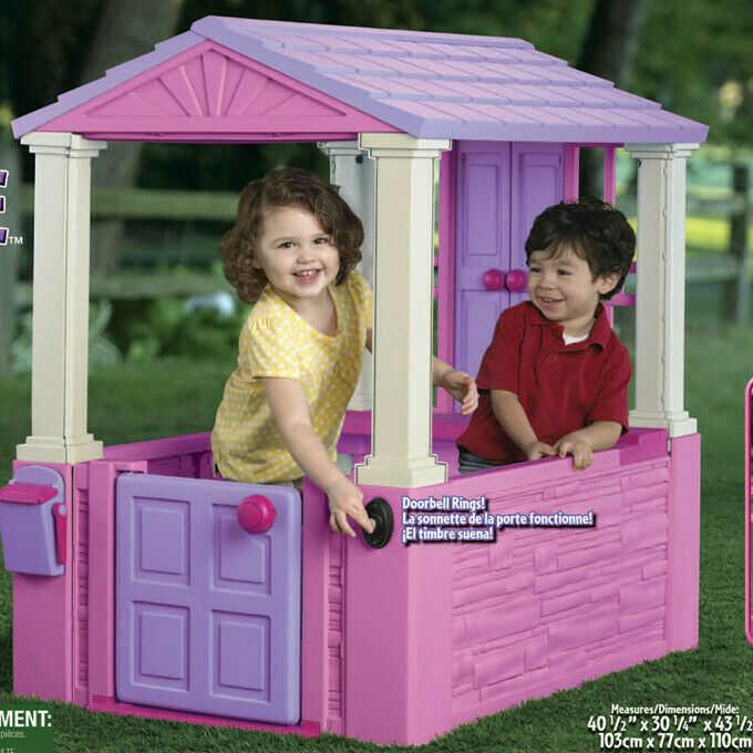 American Plastic Toys 2.52' x 3.38' Playhouse Playhouse Playhouse fb7baa