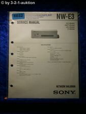Sony Service Manual NW E3 Network Walkman (#6032)