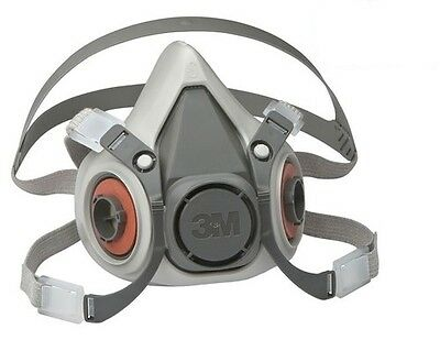3M 6000 Series Half Mask Reusable Respirator / Dust & Gas Mask - 6100 6200 6300
