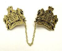 """24k GOLD PLATED Tallis Clip Israel """"Torah Crown"""" Prayer Shawl Talis Tallit Talit"""