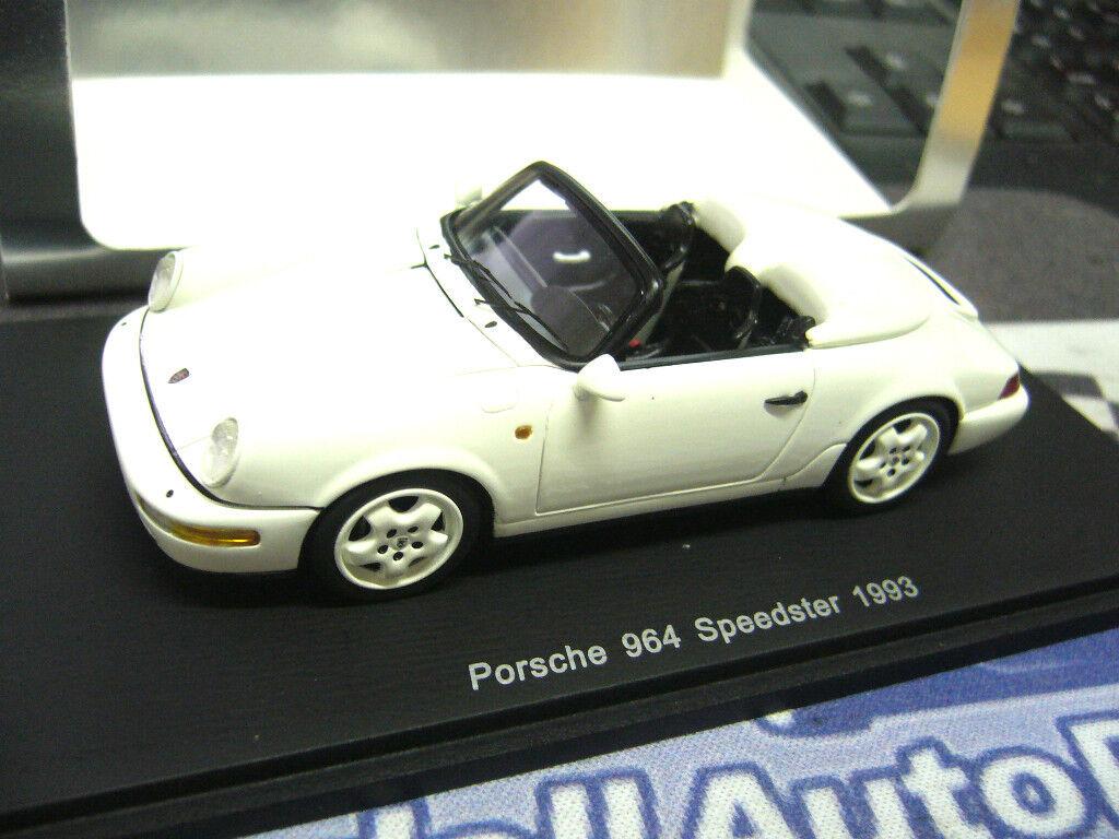 Porsche 911 964 speedster 1993 blanc spark resin 1 43