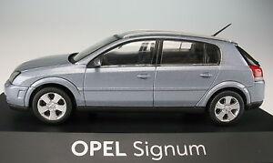 SCHUCO-OPEL-Signum-metalico-Plata-1-43-nuevo-en-caja-original-modelos-coches