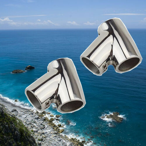 "New Stock 2PCS 1/"" Tube Stainless Steel Boat Hand Rail 60 Degree Tee Hardware"