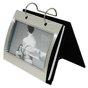 Silver-Colour-Free-Standing-Flip-Album-Holds-50-of-6-x-4-inch-photos