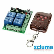 XCLUMA 4 CHANNEL RF WIRELESS REMOTE CONTROL + 2 Remote