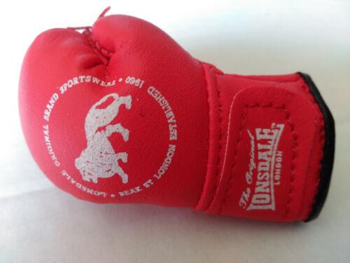 Lonsdale Sport Rosso e Bianco Guanto Da Boxe Portachiavi Nuovo