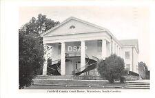 A48/ Winnsboro South Carolina SC Postcard RPPC Fairfield County Court House c50