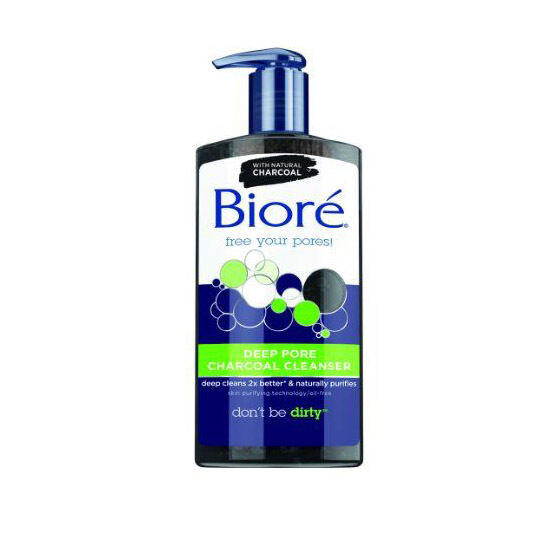 Biore Deep Pore Charcoal Cleanser Oil Free Skin Cleansing 200ml