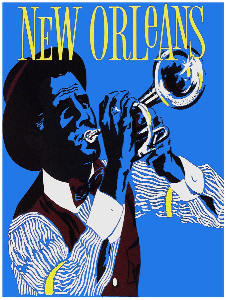 16x20 Decoration CANVAS.Interior room design art.New Orleans sax jazz .6472
