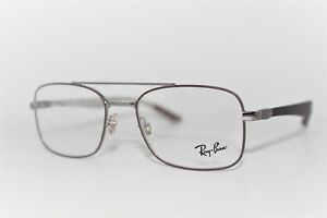 d2c89ede69 NEW AUTHENTIC RAY-BAN RB 8417 2952 BROWN SILVER FRAMES EYEGLASSES ...