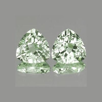 6mm 2pc Set VVS Trillion Natural Green Amethyst cga22