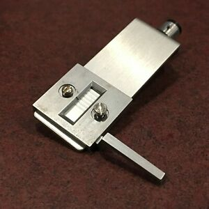 Sanyo-Turntable-Parts-Tone-Arm-Head-Shell-w-Hardware-amp-Wires-Silver