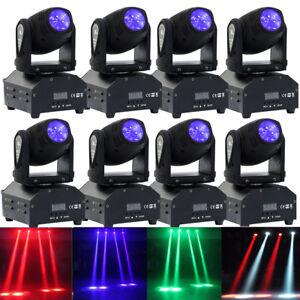 8pcs Mini Moving Head Led Rgbw Stage Lighting Spotlight