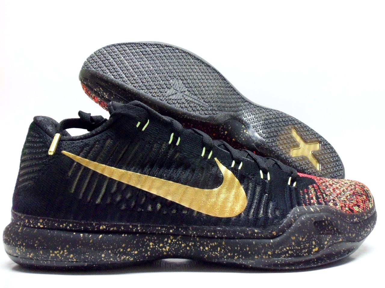 Nike Kobe 10 X Elite Low Xmas Christmas 5 Rings Mamba Sz 10.5 802560 ...