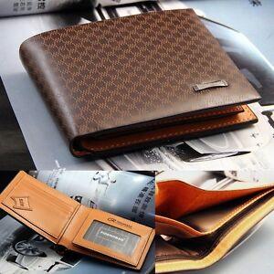 Pocket Stylish Men's PU Leather Wallet ID Credit Card Purse Clutch Bifold