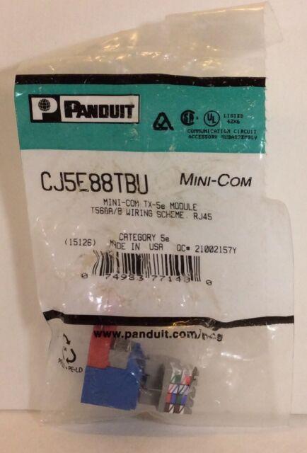 panduit cj5e88tbu mini-com tx-5e module t568a/b wiring scheme rj45