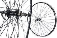 Pair 700c (622 X 13) Road Bike Racer Wheels Black Alloy Qr Hubs 50% Off