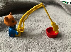 Lego-fabuland-set-3701-Cornelius-Charlie-chat-canne-a-peche-amp-PAN-1982