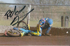RICHIE DENNIS HAND SIGNED SCUNTHORPE SCORPIONS SPEEDWAY 6X4 PHOTO.