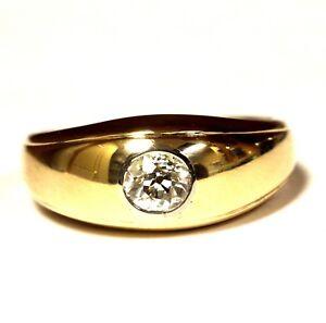 14k-yellow-gold-40ct-VS2-I-European-diamond-wedding-band-mens-ring-5-3g-gents