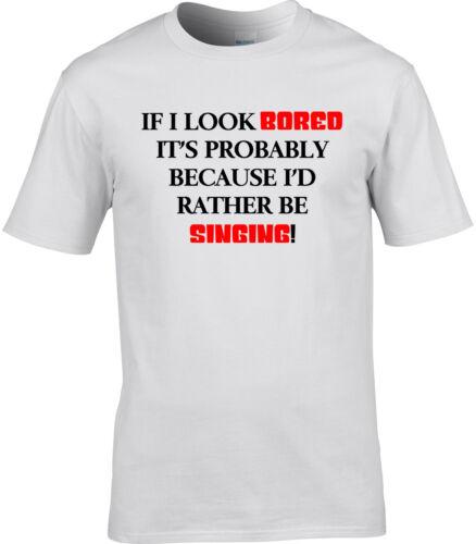 Singer Mens T-Shirt I/'d Rather Be Singing Gift Idea Vocalist Band Vocals Sing