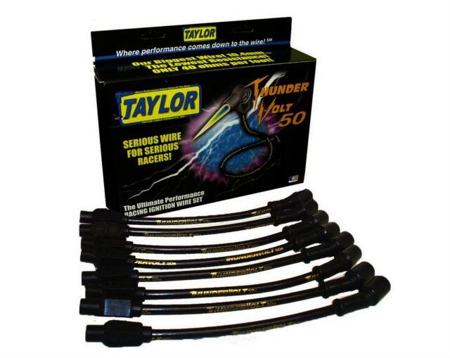 Taylor Cable 98005 Black 10.4mm Custom Fit ThunderVolt 50 High Performance Spark Plug Wire Set